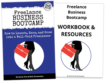 Freelance Business Bootcamp ebook include a Workbook & Resources