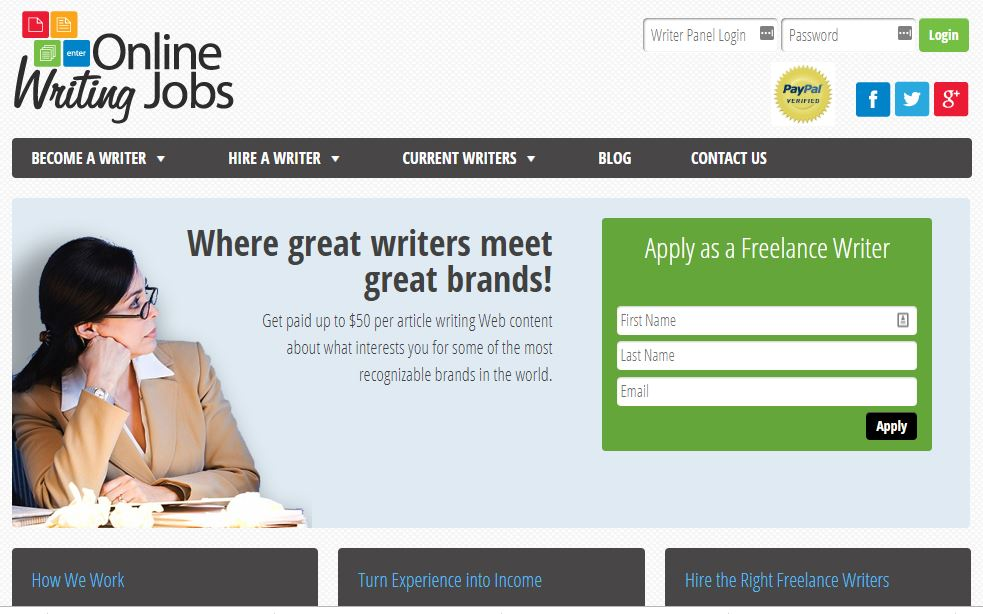 Writing Websites: Online Writing Jobs