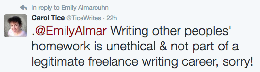 Academic writing tweet response