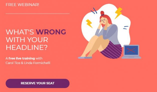 Free Webinar: What's Wrong With Your Headline? Freelance Writers Den.